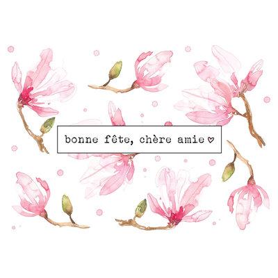 Stéphanie Renière Carte - Bonne fête, chère amie