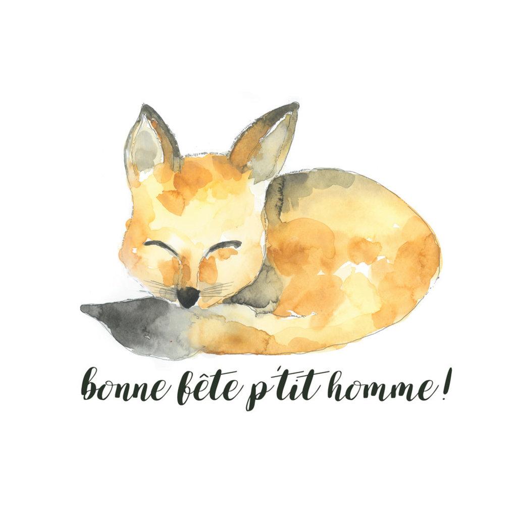 Stéphanie Renière Carte - Bonne fête p'tit homme!