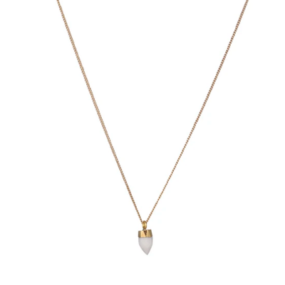 Lost & Faune Collier - Or et agate blanche