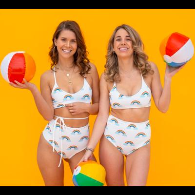 POP underwear Maillot de bain réversible - Arc-en-ciel