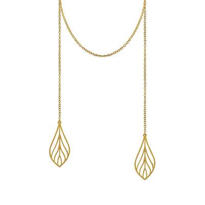 Lost & Faune Collier - Foulard pendentif feuille