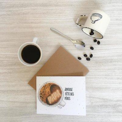 Kit de Survie Carte ensemencée - Café (fête des pères)