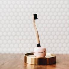 BKIND Porte brosse à dent rose en céramique