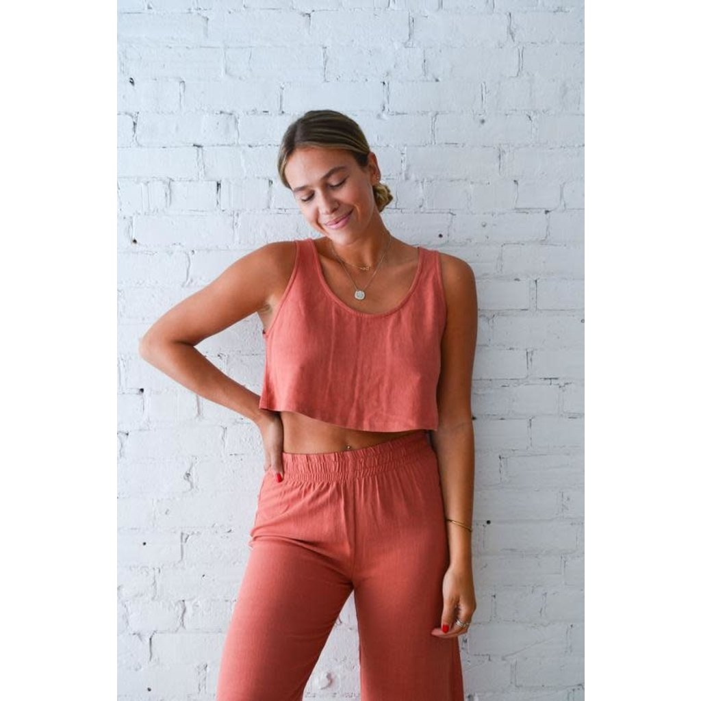 Dailystory clothing Maggie - Crop top Terracotta
