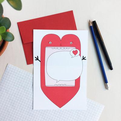 Petit Happy Carte à déplier - Coeur
