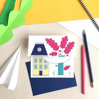 Petit Happy Carte à déplier - Maison