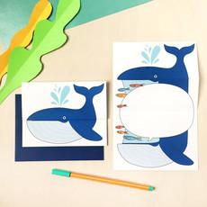 Petit Happy Carte à déplier - Baleine