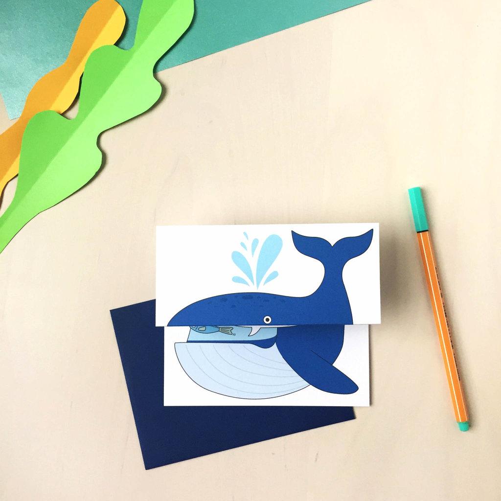 Carte à déplier - Baleine