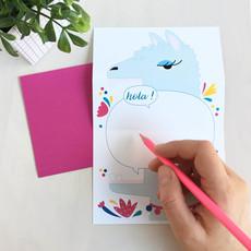 Petit Happy Carte à déplier - Lama
