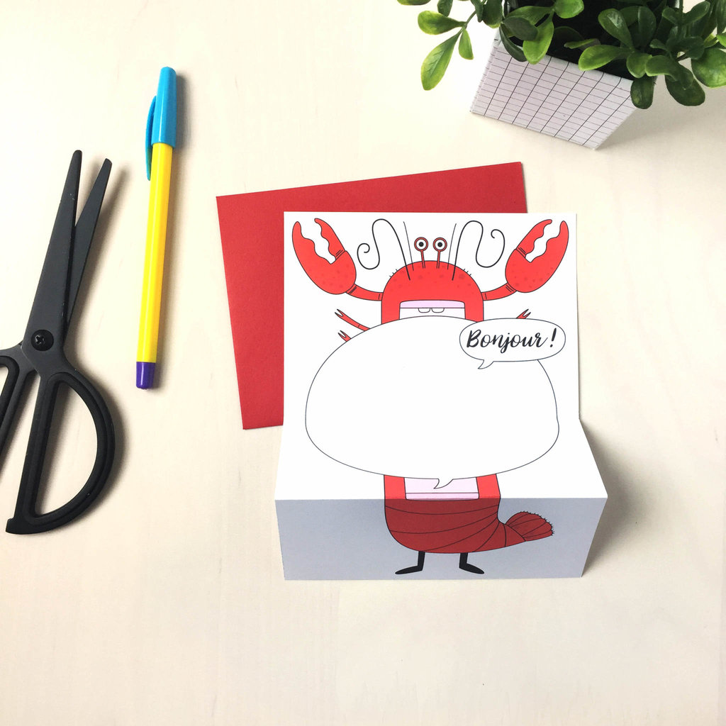 Petit Happy Carte à déplier - Homard