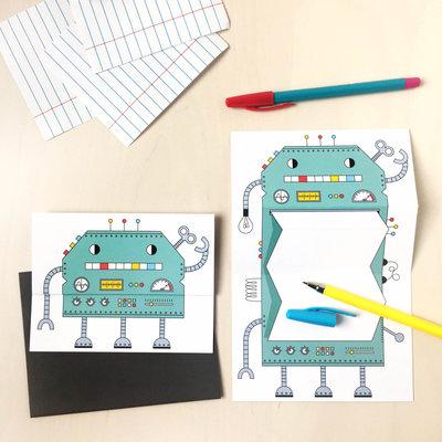 Petit Happy Carte à déplier - Robot