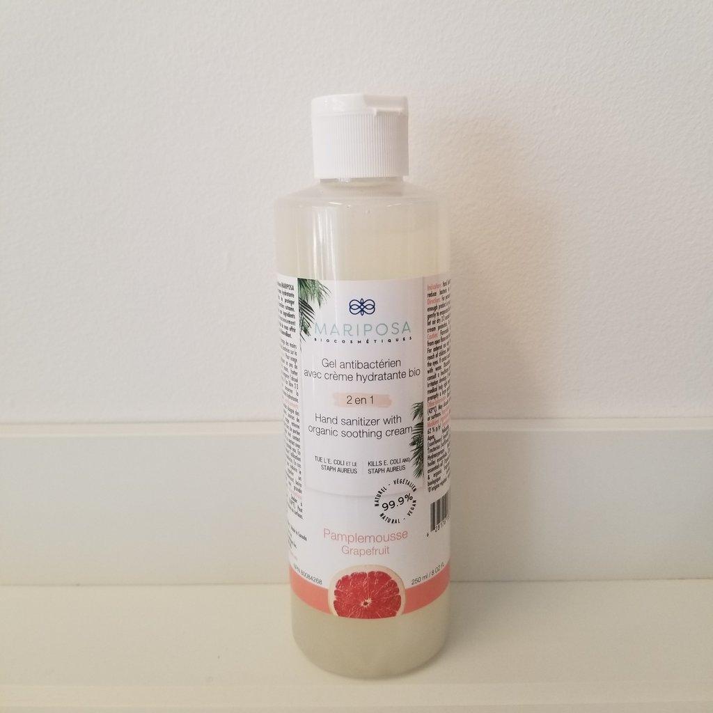 Mariposa Biocosmétiques Gel antibactérien 2 en 1 - 250 ml - Pamplemousse