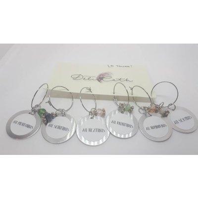 Marqueurs verres de vin - La toune