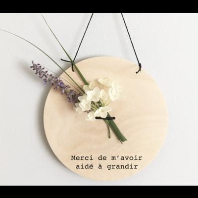 Abricotine Bannière décorative pour fleur - Merci