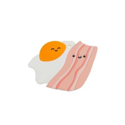 Loulou lollipop Jouet de dentition en silicone - Bacon & oeuf