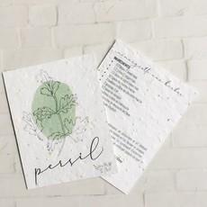 Kit de Survie Trio carte de recette plantable