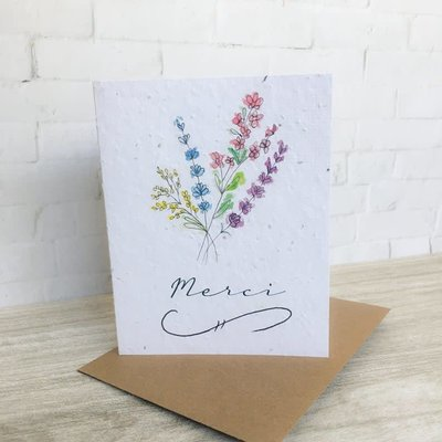 Kit de Survie Carte ensemencée - Merci fleurs