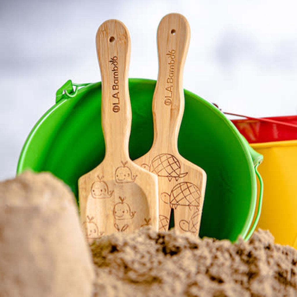 OLA Bambou Jouets de plage pour enfants - Seau vert