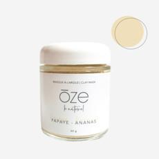 ōze le naturel Masque purifiant à l'argile - Papaye & Ananas