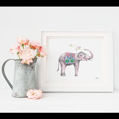 Hobeika Art Affiche - Éléphant porte bonheur