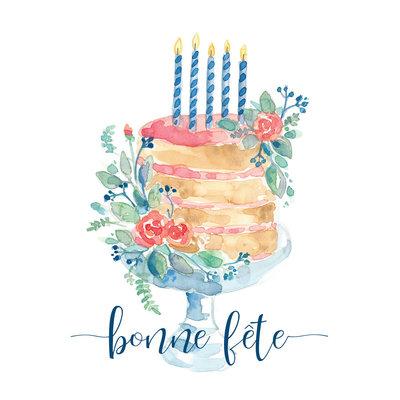 Stéphanie Renière Carte - Gâteau de fête