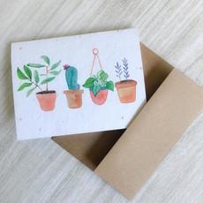 Kit de Survie Carte ensemencée - Pot de fleurs
