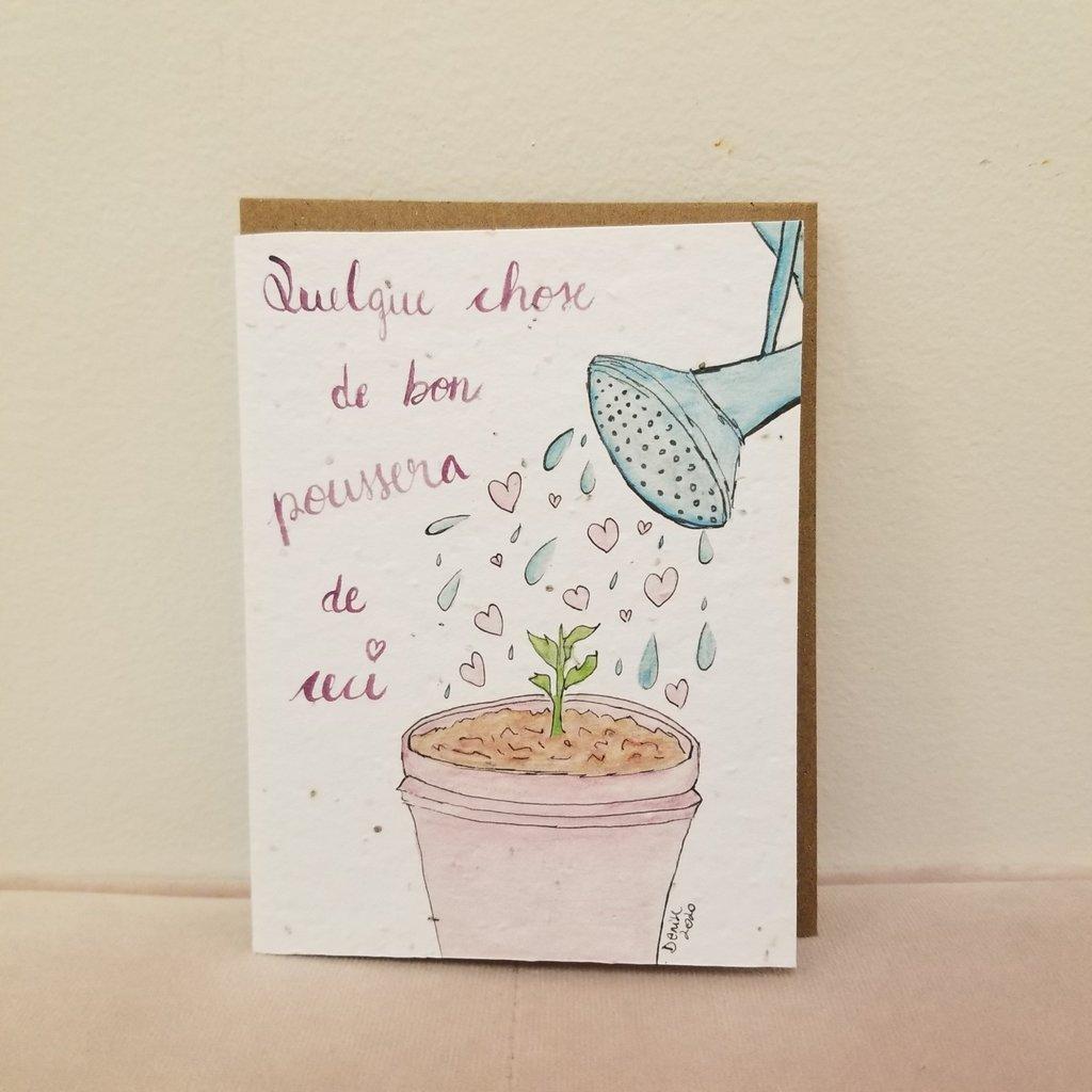 Kit de Survie Carte ensemencée - Quelque chose de bon poussera de ceci