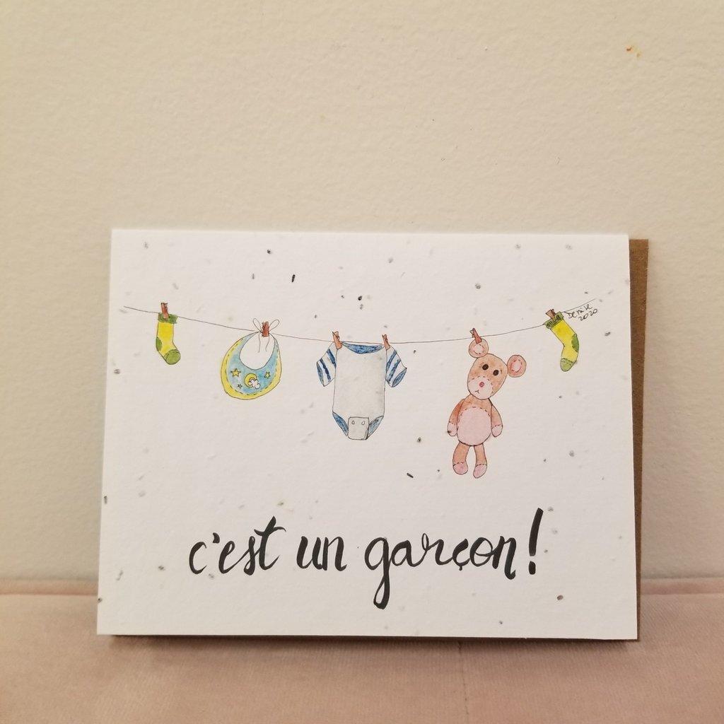 Kit de Survie Carte - C'est un garçon!