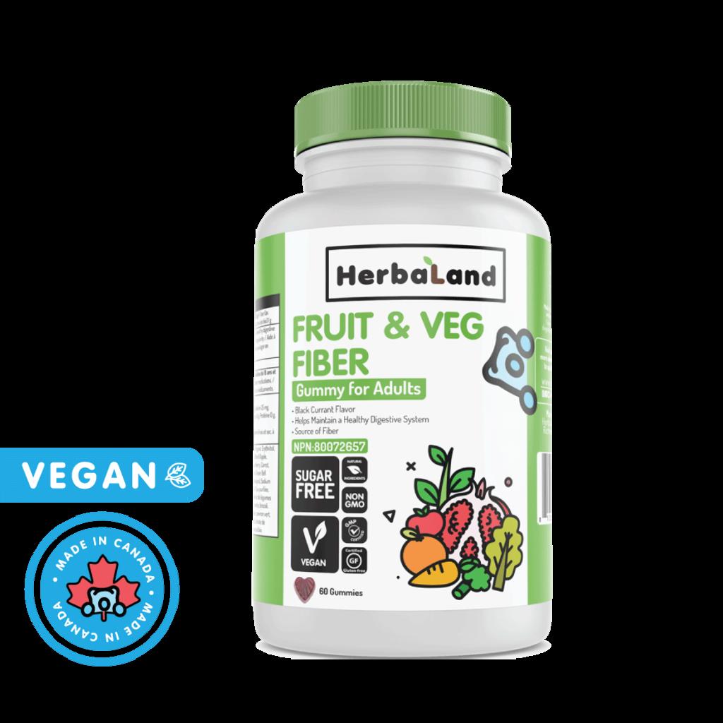 Herbaland Gummies - Fruit, légumes et fibres