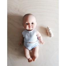 Veille sur toi Biberon en bois naturel pour poupées