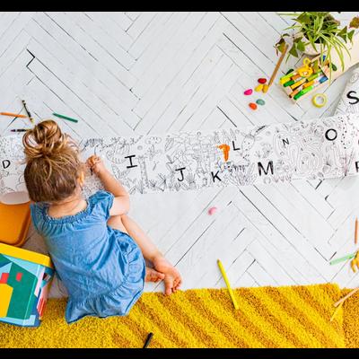 Atelier Rue Tabaga Rouleau de coloriage - Safari Alphabet