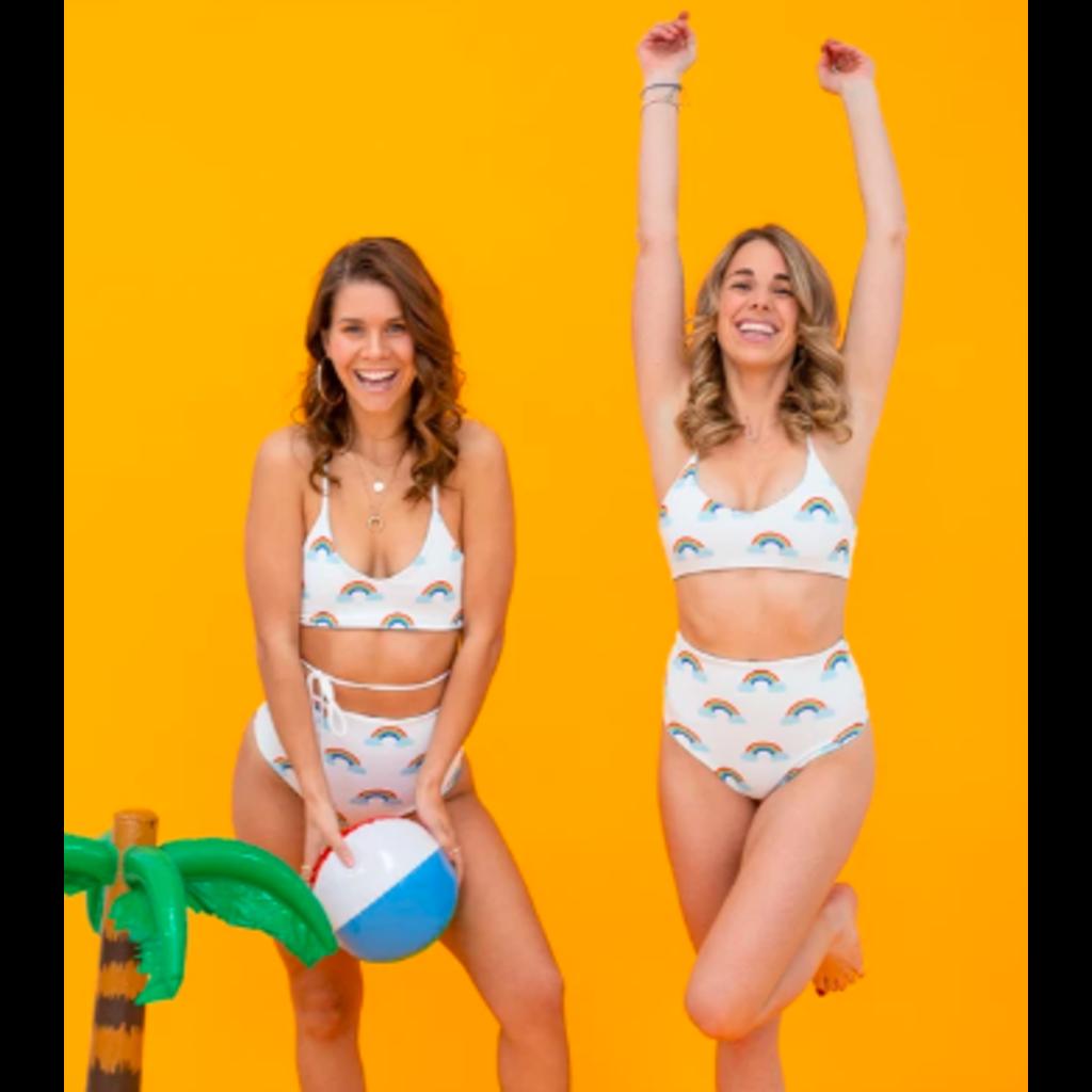 POP underwear Maillot de bain réversible - Arc-en-ciel - Haut