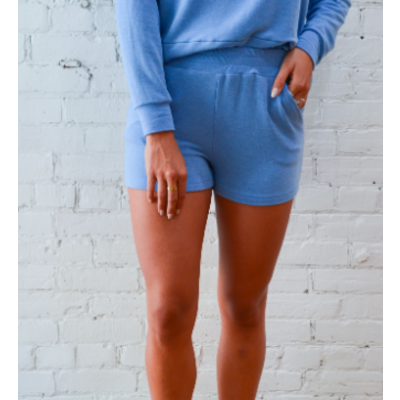Dailystory clothing Estelle Jogger Shorts - Sky