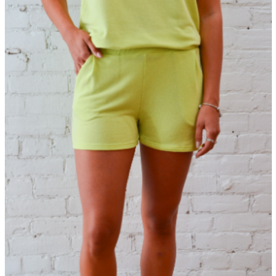 Dailystory clothing Estelle Jogger Shorts - Limette