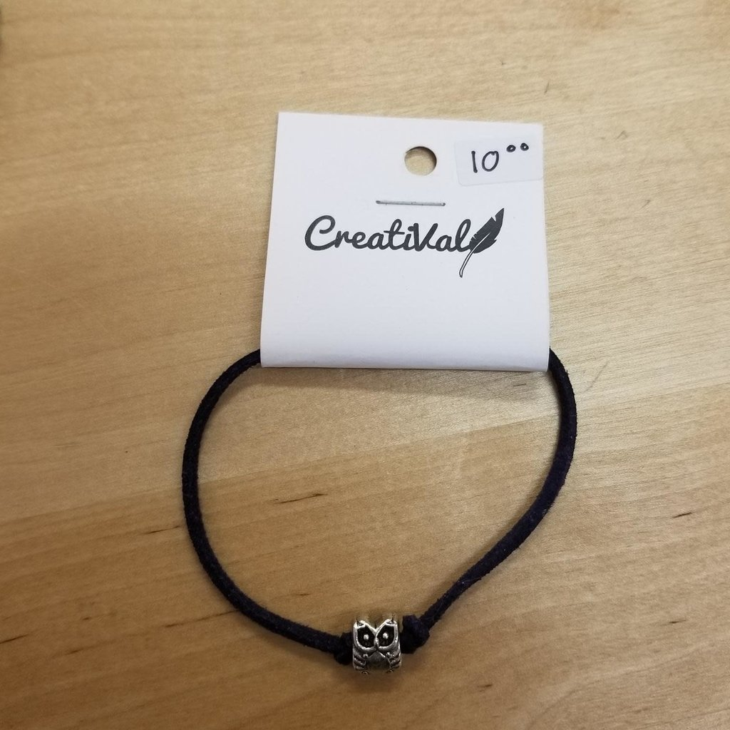 Bracelet suède - Hibou