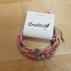 Kit bracelet Créatival - Rose