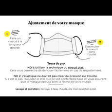Augustin & Co. Masque - Série Artiste - Lysa Jordan / Bleu