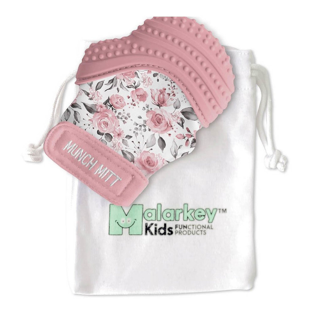 Malarkey Kids Mitaines de dentiton - Rosewood