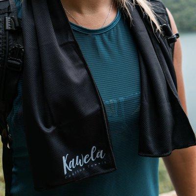 Kawela Serviette rafraîchissante - Noire