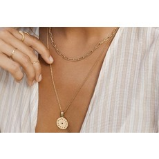 Twenty Compass Collier - Paperclip Or