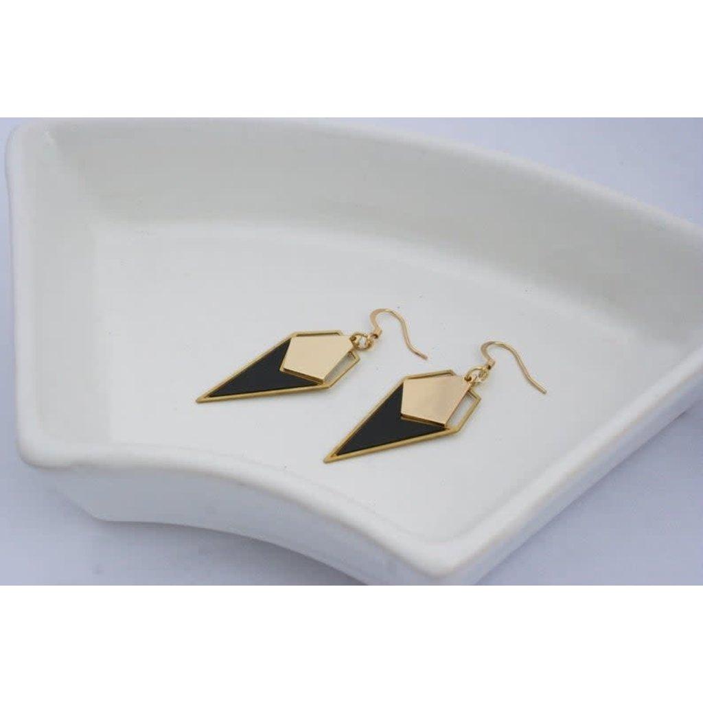 Boucle d'or Boucles d'oreilles - Pique noir