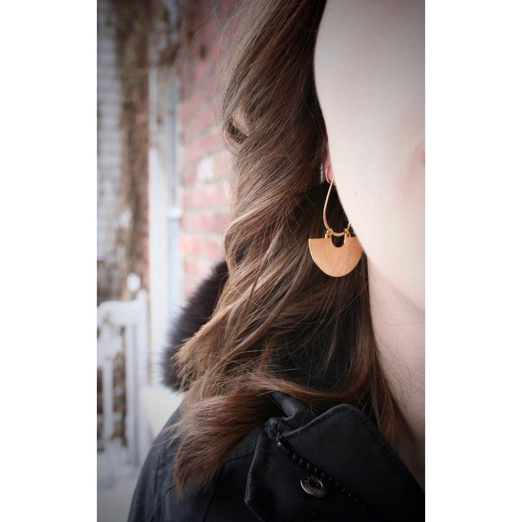 Boucle d'or Boucles d'oreilles - Demi-lune or