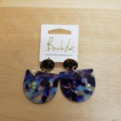 Boucle d'or Boucles d'oreilles - Mélanges de bleues
