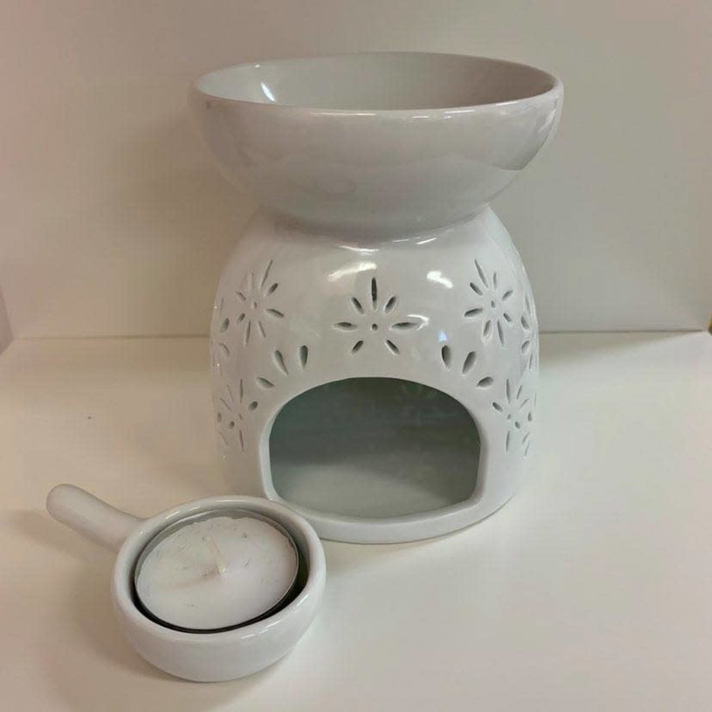 Inédit du Nord Diffuseur en céramique pour pastille de cire parfumée - Fleurs