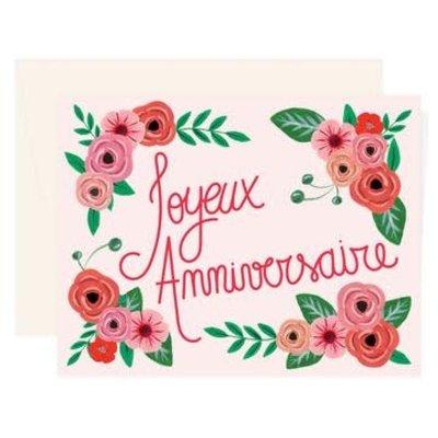 Paige & Willow carte Joyeux Anniversaire Rose Floral