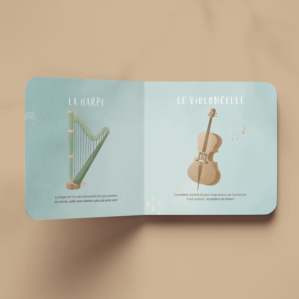 Moka toutou musical Livre - Moka découvre les instruments de musique classiques