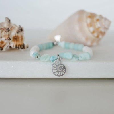 Namasty Bracelet Namasty - Coquillage Bleu