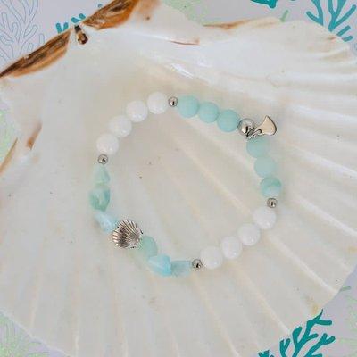 Namasty Bracelet Namasty - Petit coquillage bleu