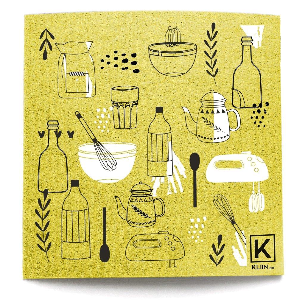 KLIIN Grand essuie-tout réutilisable - Outil de cuisine Jaune