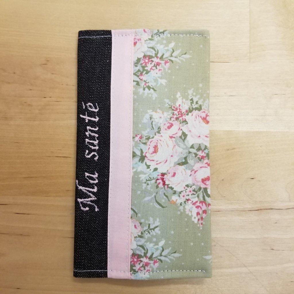 Protège carnet de santé - Fleurs de tapisserie